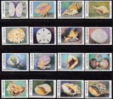 Bahamas 1996 Set of 16 Sea shells  849-64