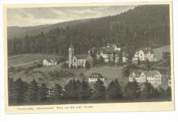 "Carte Postale Ancienne ""Herrenalb. Schwarzwald.""Blick Auf DieKath Kirche - Bad Herrenalb"
