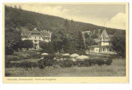 """Carte Postale Ancienne """"Herrenalb. Schwarzwald."""" Partie Am Kurgarten - Bad Herrenalb"""