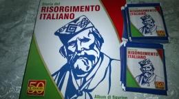 Risorgimento Italiano Album Vuoto+50 Bustine Chiuse Con Figurine Panini 2011 - Panini