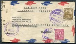 1940s Venezuels Airmail Maracaibo Censor Cover - Lubeck Germany - Venezuela