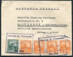 1948 Venezuels Airmail Maracaibo Cover - Lubeck Germany - Venezuela