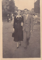 Carte-Photo Couple Fête 1949 Ou 1948 (animée) - Beyne-Heusay