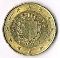 Malta 2008 20 (Euro) Cents - Malta