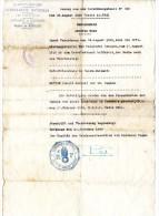 GUERRE 1939 1945  -  Section DE BORDEAUX   -  1939  -   GENDARMERIE NATIONALE  LETTRE ECRITE EN ALLEMAND - Documents