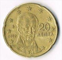 Greece 2002 20 (Euro) Cents - Greece