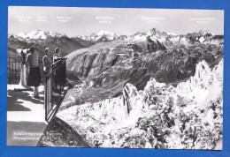 Schweiz; Eisgrotte Rhonegletscher; Aussichtsterasse - VS Wallis