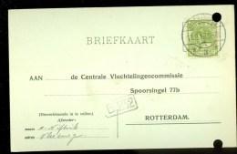 WW-1 * HANDGESCHREVEN BRIEFKAART COMITE VLUCHTELINGEN Uit 1918 Van VLISSINGEN Naar ROTTERDAM (9822A) - Periode 1891-1948 (Wilhelmina)