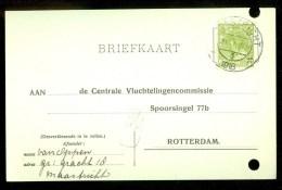 WW-1 * HANDGESCHREVEN BRIEFKAART COMITE VLUCHTELINGEN Uit 1918 Van MAASTRICHT Naar ROTTERDAM (9822b) - Periode 1891-1948 (Wilhelmina)