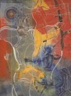 BOGENSCHIESSEN-ARCHERY-TIR A L´ARC-TIRO CON L´ARCO, Künstlerkarte / Artist´s Card, HANS ERNI- Switzerland, MNH !! - Tir à L'Arc