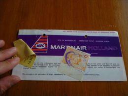 CB6 LC114 Billet ticket Mac Airlines Martinair Holland timbre taxe Pub cigarettes Peer superking