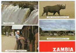 ZAMBIA - VIEWS / VICTORIA FALLS / RHINO / THEMATIC STAMP-ELEPHANT - Zambia