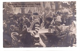 GRAND_DUCAL COUPLE IN WEIMAR  22-01-1910 From Weimar To Rome Real Photo Defects - Militaria