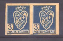 00083  -  Algérie   :  Yv  181a  **,*  Non Dentelé , Paire - Nuevos