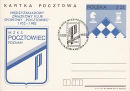 SCHACH-CHESS-ECHECS-SCACC HI, POLAND, 1982, Special Postmark !! - Chess