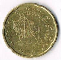 Cyprus 2008 20 (Euro) Cents - Cyprus
