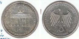 ALEMANIA 10 DEUTSCHE MARK A PUERTA BRANDENBURGO 1991 PLATA SILVER - [ 7] 1949-… : FRG - Fed. Rep. Germany