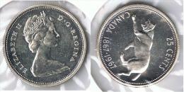 CANADA 25 CENTS  DOLLAR 1967 PLATA SILVER G1 - Canada