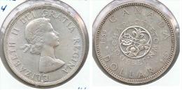 CANADA DOLLAR 1964 QUEBEC PLATA SILVER G1 - Canada