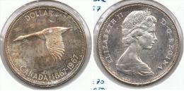 CANADA DOLLAR 1967 PLATA SILVER G1 - Canada