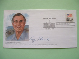 USA 1985 Inauguration Day Cover Vice-President George Herbert Walker Bush - Lettres & Documents