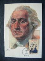 USA 1986 FDC Maxicard U.S. Presidents - George Washington - Lettres & Documents