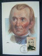 USA 1986 FDC Maxicard U.S. Presidents - James Polk - Etats-Unis