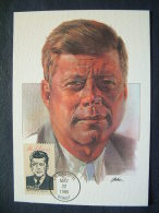 USA 1986 FDC Maxicard U.S. Presidents - John F. Kennedy - United States