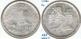 EGIPTO 5 POUNDS EXPORTACION 1990 PLATA SILVER G1 - Cuba