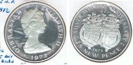 GIBRALTAR 25 NEW PENCE 1972 PLATA SILVER G1 - Gibraltar
