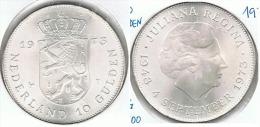 HOLANDA  10 GULDEN 1973 PLATA SILVER G1 - 1948-1980 : Juliana