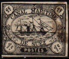 CANAL DE SUEZ - 1 C. Noir FAUX - Égypte