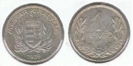 HUNGRIA  PENGO 1939 PLATA SILVER G1 - Hungría