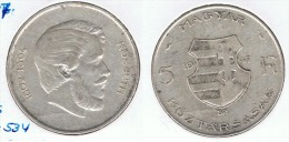 HUNGRIA 5 FLORINT 1947 PLATA SILVER G1 - Hungría