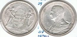 HUNGRIA 5 PENGO 1939 PLATA SILVER G1 - Hungría