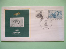 USA 1984 America Duck Stamps - Hunting Tax - 1951 Gadwalls - Train - Etats-Unis