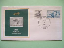USA 1984 America Duck Stamps - Hunting Tax - 1951 Gadwalls - Train - United States