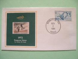 USA 1984 America Duck Stamps - Hunting Tax - 1972 Emperor Geese - Wetlands - Etats-Unis