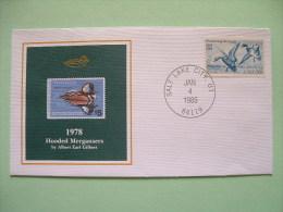 USA 1984 America Duck Stamps - Hunting Tax - 1978 Hooded Mergansers - Wetlands - Etats-Unis