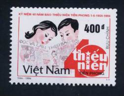 "Vietnam Viet Nam MNH Perf Stamp 1994 : 40th Anniversary Of The Newspaper ""Young  Pioneer"" (Ms684) - Vietnam"