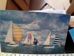 ENGLAND ISLE WIGHT  SEA SKY AND SAIL BARCHE  VELA   VB1969  EV1083 - Cowes