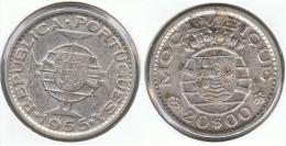 MOZAMBIQUE 20 ESCUDO 1955 PLATA SILVER G1 - Mozambique