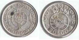 MOZAMBIQUE 20 ESCUDO 1960 PLATA SILVER G1 - Mozambique