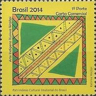 BRAZIL - INDIAN ART KUSIWA WAJÃPI, INTANGIBLE CULTURAL HERITAGE OF BRAZIL 2014 - MNH - Brasile