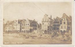 Arras France, Grand Place WWI Ruins Destruction, C1910s Vintage Photograph - War, Military
