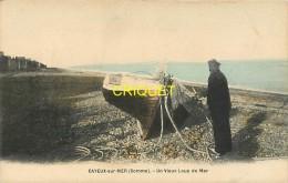 Cpa 80 Cayeux Sur Mer, Un Vieux Loup De Mer, Belle Carte Colorisée - Cayeux Sur Mer