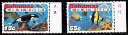 Bahamas 1998 Set of 2 IYO Issue,Killer Whale,Tropical Fish  926-7