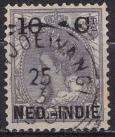 Ned. Indië: Vierkantstempel BANJOEWANGI Op 1900 Hulpuitgifte Zegels NL Overdrukt In Zwart 10 / 10 Ct  NVPH 31 - Nederlands-Indië