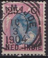 Ned. Indië: Vierkantstempel INDEAMAJOE Op 1900 Hulpuitgifte Zegels NL Overdrukt In Zwart 25 / 25 Ct  NVPH 35 - Indes Néerlandaises