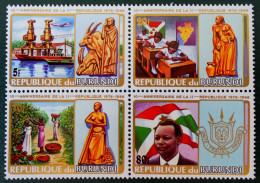 10 EME NNIVERSAIRE DE LA 2 EME REPUBLIQUE 1986 - NEUFS ** - MI 1/V - NON-EMIS - TIMBRES DU BLOC - RAREMENT PROPOSES !! - Burundi